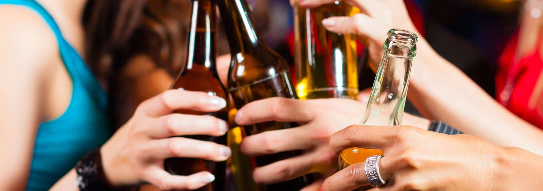 What are the stages of alcoholism?